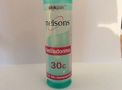 Nelsons Homeopathic Belladonna 30c New Sealed