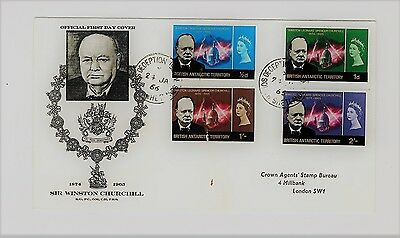 First Day Cover With Faults. British Antarctic Territory Churchill Set 1966.