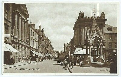 Vintage Postcard. High Street, Inverness. c.1932. Unused  Ref:5849