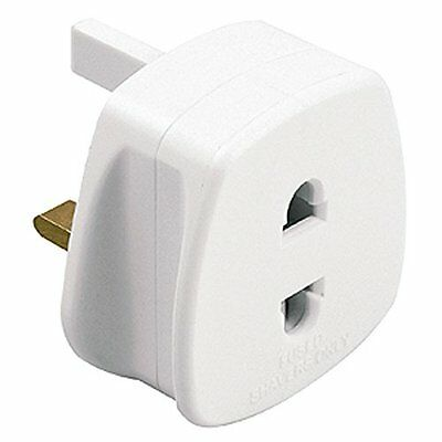 Omega UK 1A Electric Shaver Plug Adaptor Oral-B Toothbrush 2 To 3-Pin Converter