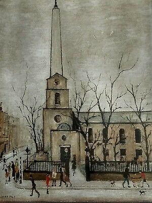 """L S Lowry signed limited edition print """"St Luke's Church"""" (now home of the LSO)"""