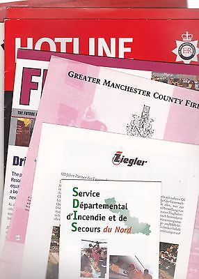 Mixed selection of ten fire service related publications