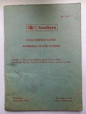 British Rail Southern Electrified Lines Working Instructions 1976 BR29857