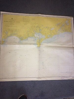 Vintage Map Of Hyannis Harbor And Vicinity Massachusetts Usa 1960