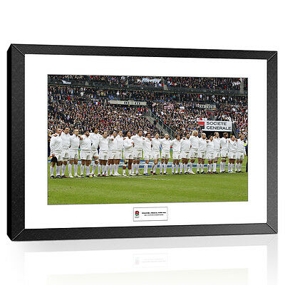 England Rugby National Anthem Line 2012 6 Nations Championship Framed Print