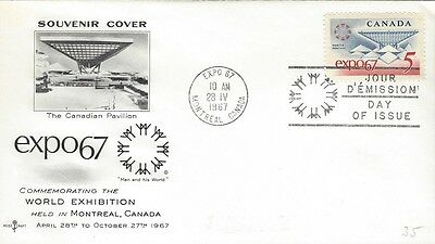 1967 #469 EXPO'67 FDC with Rose Craft cachet