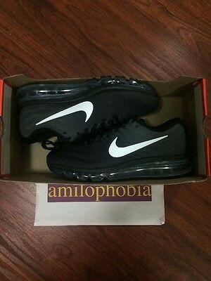 New Women's Nike Air Max 2017 Size 9.5 Black White Anthracite Running Shoes
