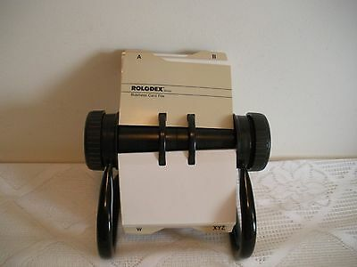 """Rolodex Open Rotary Business Card File w/dividers 4"""" x 2""""  Model RBC400X EUC**"""