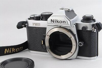 [Near Mint!!]  Nikon New FM2 silver 35mm SLR Film Camera Body from japan #62