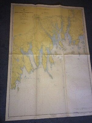 Vintage Map Tibbett Narrows To Schoodic Island Maine Usa 1960