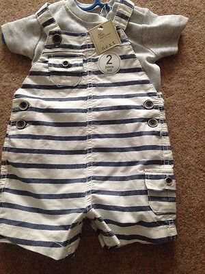 Next Baby Dungarees set 3-6 Months New With Tags