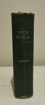 Antique illustrated leather bound bible circa 1920 gold edged