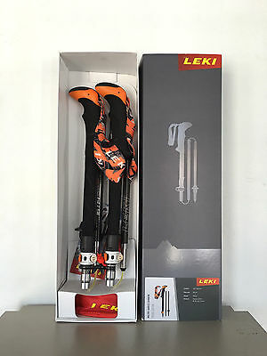 Brand New 2016 LEKI Micro Vario Carbon Poles for Men (pair)