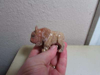 Buffalo (Bison), Hand carved Marble from the Andes. Rich Stone Buffalo Unique!