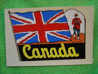 Vintage Canada Travel Decal