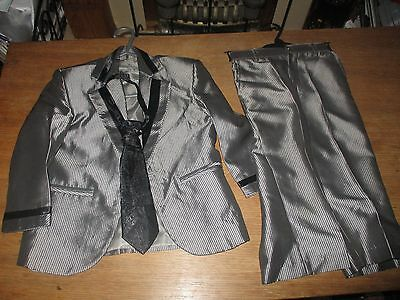 Boys 3 Piece Grey And Black Wedding Suit Age 2 Years