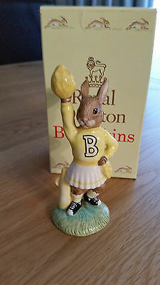 Royal Doulton Bunnykins DB143 CHEERLEADER yellow mint and boxed.only 1000 W/W