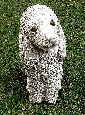 "Dog Poodle puppy Stone Ornament Home Garden Patio Lawn Statue Sculpture ""PATSY"""