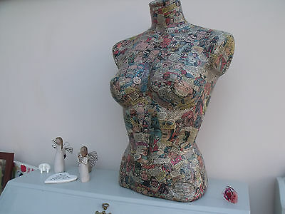 Decopatch Female Mannequin/torso - Marvel Comics - Upcycled