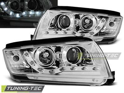 Fari Anteriori Headlights Skoda Fabia 12.99-08 Daylight Chrome Look