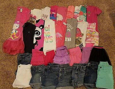 Girls Huge Summer Lot Justice 7/8 TCP Shorts