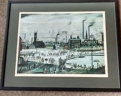 """L S Lowry signed limited edition print """"An Industrial Town"""""""
