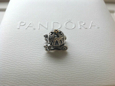 Authentic Pandora Sterling Charm Beads S925 Disney Cinderella Pumpkin Carriage