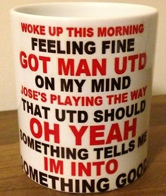 Manchester United Something Tells Me Im Into Something Good Song Mug