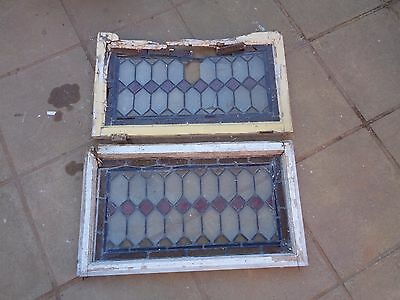 2 x old Stained Glass Window Panels (needs restoration).