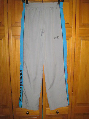 Under Armour All Season Gear fitness pants kids boys YLG L gray blue running gym