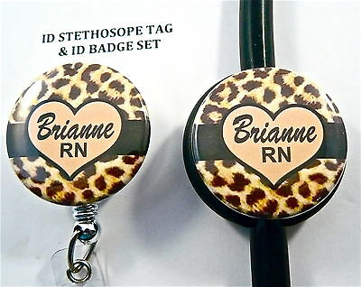 Id Stethoscope Tag Set,personal Rn, Nurse,doctor,midwife, Tech, Medical, Lanyard
