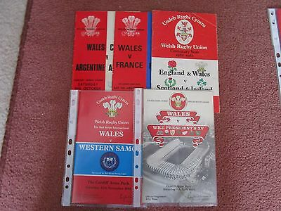 11 Old Wales International Rugby Programmes