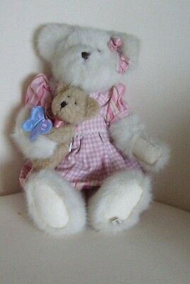 """14""""  BOYDS  Melanie  Bear and Flutterbeary  ideal for Mother's Day BNWT  mothers"""