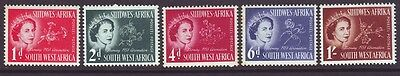 South West Africa 1953 SC 244-248 MH Set Coronation