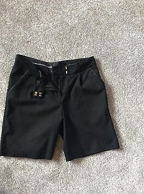 Girls Marks And Spencer School Uniform Shorts Age 10-11 Years Black