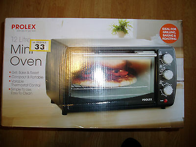New - Mini Oven / Grill / Bake & Roast - By Prolex - Boxed - Was £60