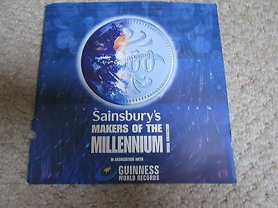 Sainsbury's 'Makers of the Millenium' Complete withMedal Collection