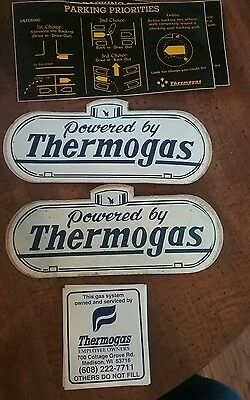 Lot of Thermogas  OIL & GAS Co. sticker decal