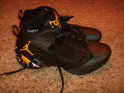 NIKE AIR JORDAN PROMO SAMPLE SHOES DWYANE WADE 2 Black Yellow Camo Mens Size 9