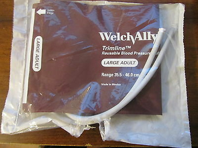 Welch Allyn Blood Pressure Cuff Reusable 2-Tube LARGE ADULT NEW