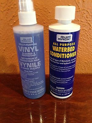 Blue Magic 8Oz 1 Year Fiberbed Waterbed Conditioner With 8Oz Vinyl Cleaner Pack
