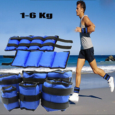 1kg 2kg 3kg 4kg 5kg 6kg Ankle Wrist Leg Weight Exercise Training Fitness Running