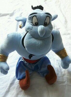 "Disney Store Aladdin Genie Plush 15"" Preowned *GREAT*"