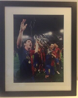 Hand Signed Lionel Messi Barcelona Photo 100% Genuine Autograph Photo Proof
