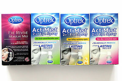 Optrex ActiMist Eye Spray - 10ml - 100 Doses - Please Choose Type:
