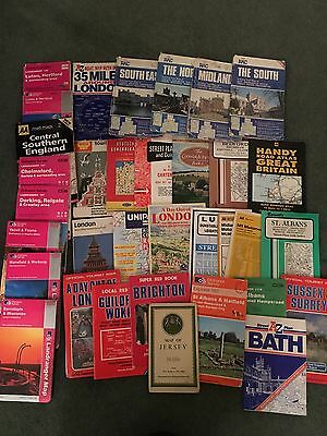 JOB LOT OF 34 VINTAGE ORDINANCE SURVEY MAPS/items And Others