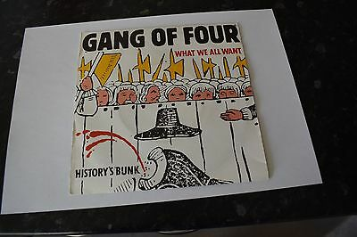 "GANG OF FOUR What We All Want 7"" Record (Rare/Mint Vinyl)"