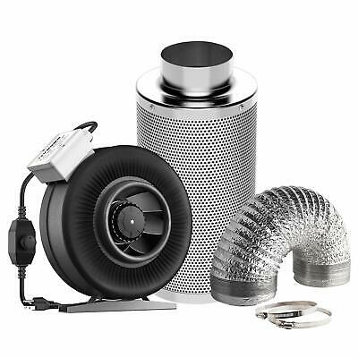 "VIVOSUN 4"" 6"" 8"" inch Inline Fan w/ Controller Carbon Filter Air Ducting Combo"