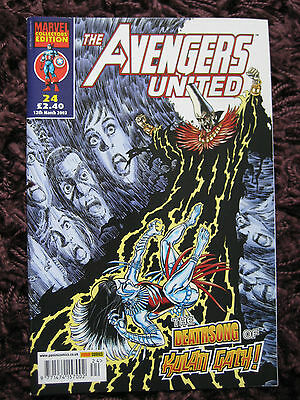 Avengers United Comic - Marvel Collectors' Edition 24 12th March 2003