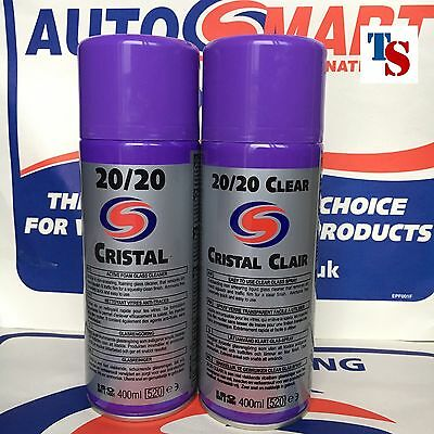 2 X Autosmart 20/20 Cristal CLEAR and FOAM Glass Cleaner Spray (GENUINE PRODUCT)